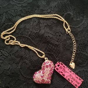 Betsey Johnson Heart Necklace
